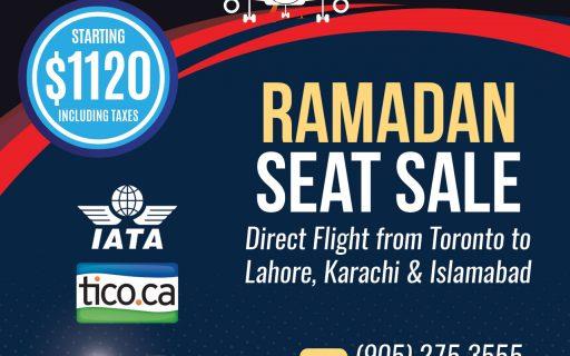Ramadan Seat Sale