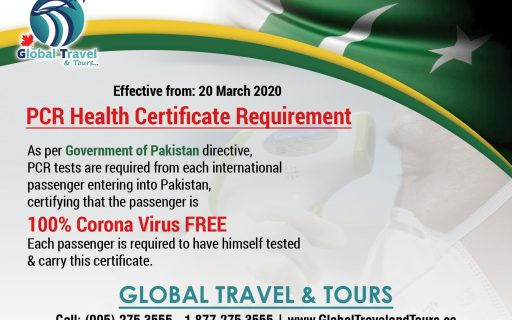 PCR Health Certificate Requirement